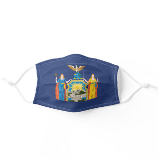 State Flag of New York, USA Adult Cloth Face Mask