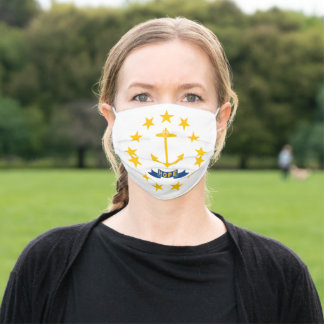 State Flag of Rhode Island Adult Cloth Face Mask