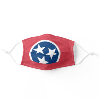 State Flag of Tennessee, USA Adult Cloth Face Mask