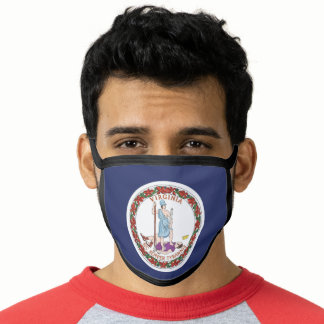 State Flag of Virginia, USA Face Mask