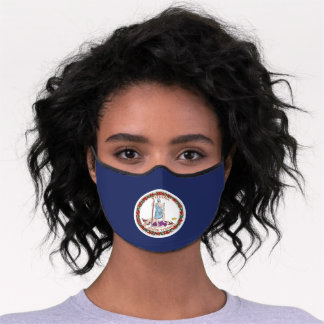 State Flag of Virginia, USA Premium Face Mask