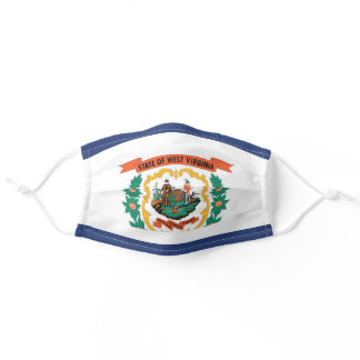 State Flag of West Virginia, USA Adult Cloth Face Mask