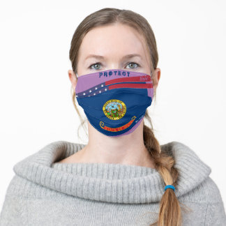 State Idaho Flag on Lavender Adult Cloth Face Mask