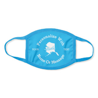 State Of Alaska PERSONALIZED Face Mask