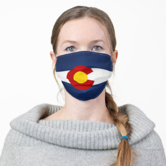 State Of Colorado Flag Adult Cloth Face Mask