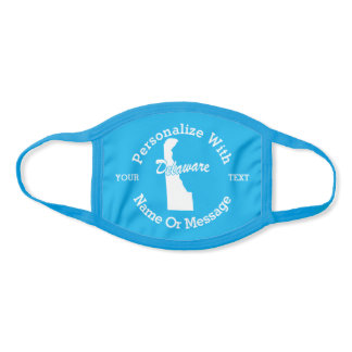 State Of Delaware PERSONALIZED Face Mask