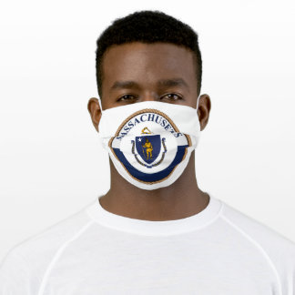 State Of Massachusetts Flag Seal Adult Cloth Face Mask
