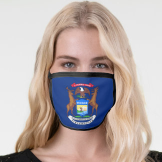 State of Michigan Flag Face Mask