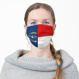 State Of North Carolina Flag Adult Cloth Face Mask
