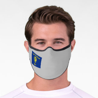 State of Oregon Flag Premium Face Mask