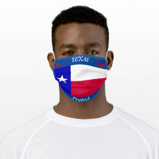 State of  Texas Flag on Blue Adult Cloth Face Mask