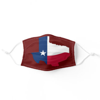 State of Texas Red Adult Cloth Face Mask