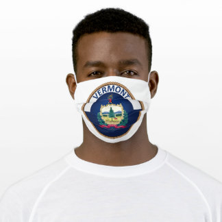 State Of Vermont Flag Seal Adult Cloth Face Mask
