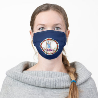 State Of Virginia Flag Adult Cloth Face Mask