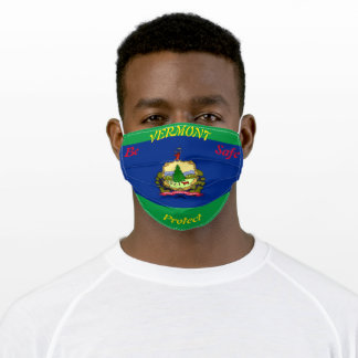 State Vermont Flag on Green Adult Cloth Face Mask