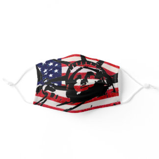 Statue of Liberty American Flag Pop Art Adult Cloth Face Mask
