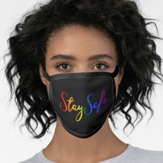 Stay Safe LGBT Rainbow Colors Gay Pride Face Mask
