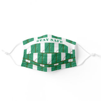 Stay Safe NIGERIA FLAG Customizable Adult Cloth Face Mask