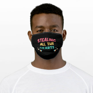 Stealing All The Hearts Adult Cloth Face Mask