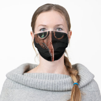 Steampunk Bloody Plague Doctor Beak Adult Cloth Face Mask