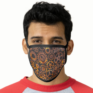 Steampunk Super Colorful Rusty Gears Face Mask
