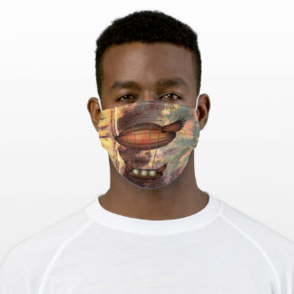 Steampunk Vintage Bronze Airship Adult Cloth Face Mask