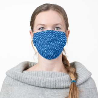 Steel Blue triangle Pattern Adult Cloth Face Mask