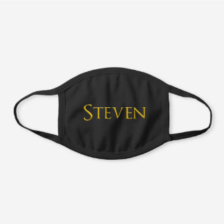 Steven Man's Name Black Cotton Face Mask