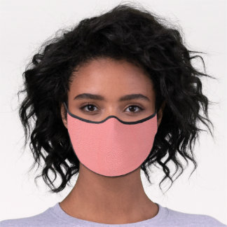 Streaked Pink Leather Grain Look Premium Face Mask