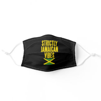 Strictly Jamaican Vibes Jamaica Flag Adult Cloth Face Mask