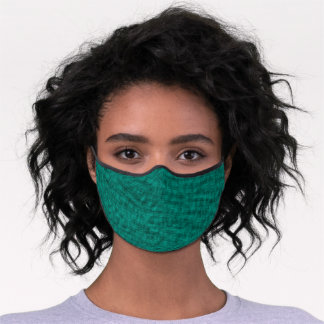Striking Deep Sea Green Women's Kid's Premium Face Mask
