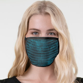 Stylish Blue and Black Harlequin Face Mask