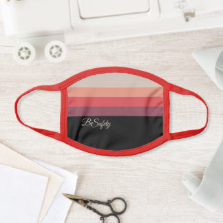 Stylish Color Gradient Striped Pattern Be safety Face Mask