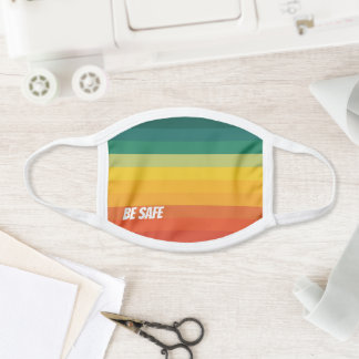 Stylish Colorful Gradient Striped Pattern  Face Mask
