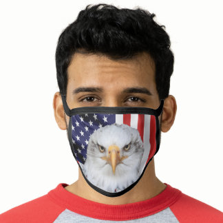 Stylish Eagle, The American Flag, Patriotic Face Mask