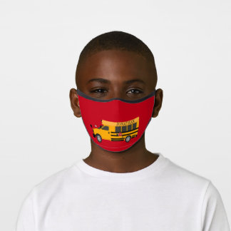 Stylish Kid's School Bus Nose Wire & Slot Premium Face Mask