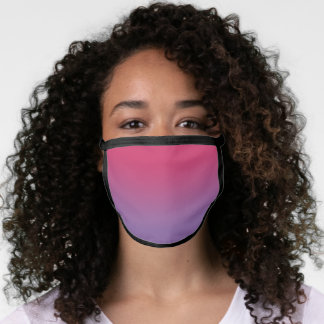 Stylish Pink to Purple Gradient Face Mask