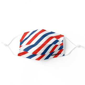 Stylist Barber Personalize Name Stripe Comfortable Adult Cloth Face Mask