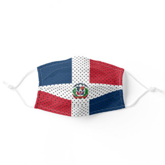 Stylized Flag of Dominican Republic Adult Cloth Face Mask