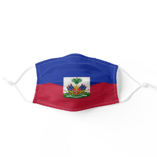 Stylized Flag of Haiti Adult Cloth Face Mask
