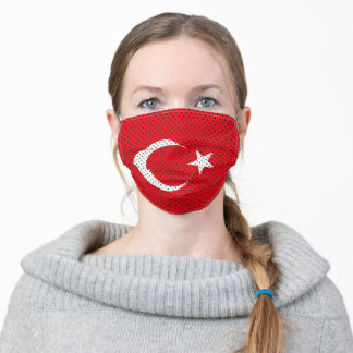 Stylized Flag of Turkey Adult Cloth Face Mask