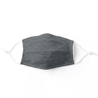 Subtle Charcoal Grey Men's Fabric Repeat Wear Adult Cloth Face Mask