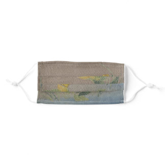 Subtle Japanese Water Lily Adult Cloth Face Mask