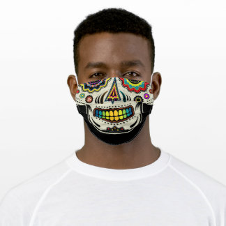 Sugar Skull Day Of The Dead Adult Cloth Face Mask