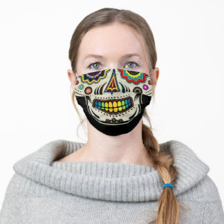 Sugar Skull Day Of The Dead Cloth Face Mask