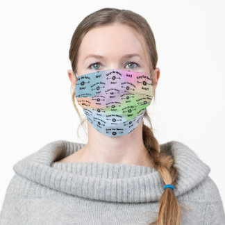 SUMMER PASTELS MIX Keep the Space, Baby! Adult Cloth Face Mask