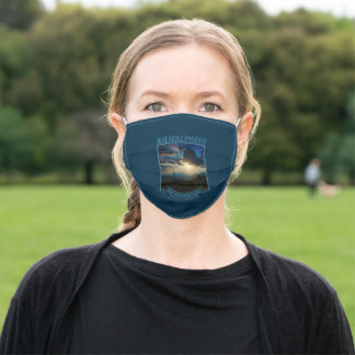 Summer Solstice Stormy Sunrays Blue Ridge Parkway Adult Cloth Face Mask