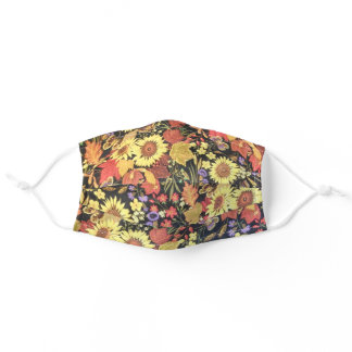 Summer Sunflowers & Butterfly 2 Pretty Women's Adult Cloth Face Mask