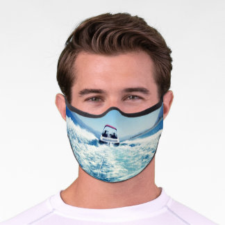 Summertime Lake Water Sports Action Photo Premium Face Mask