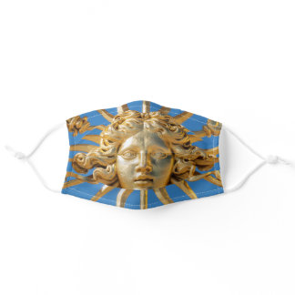Sun King on Golden gate of Versailles castle Adult Cloth Face Mask